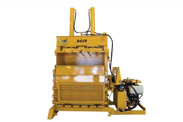 Eagle Baler is designed to compress and bale car and truck tires