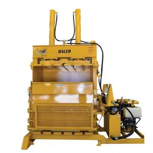 The Eagle Baler is designed to compress and bale car and truck tires