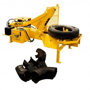 Eagle Tru-Cut Tire Cutter shears through car and truck tires for disposal