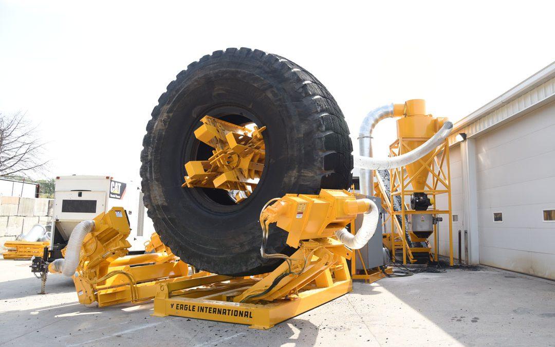 Eagle International Develops Machine to Peel Mulch from OTR Tires